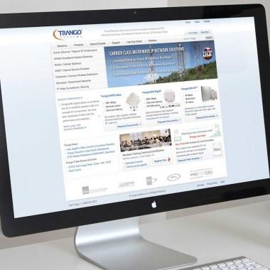 Website design and development for Trango Systems