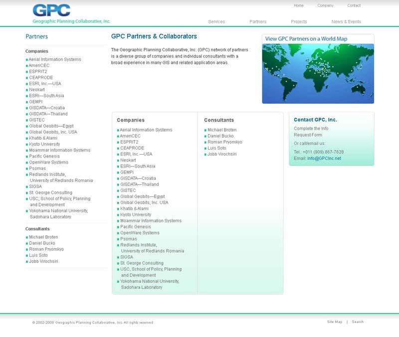 Partner landing page