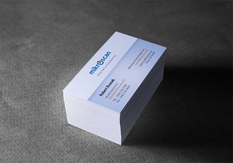 Business Card Design for Mikroscan Technologies
