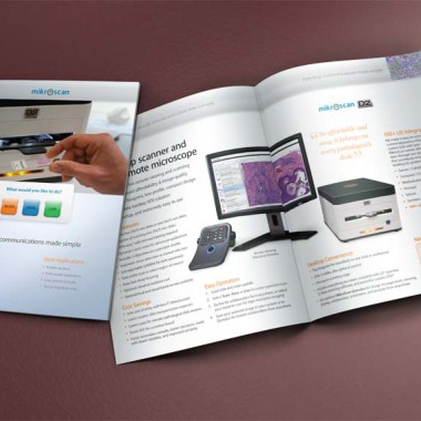 Mikroscan 8-page glossy corporate brochure