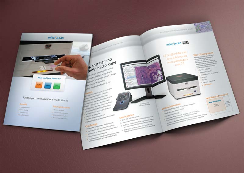Mikroscan 8-page glossy corporate brochure.
