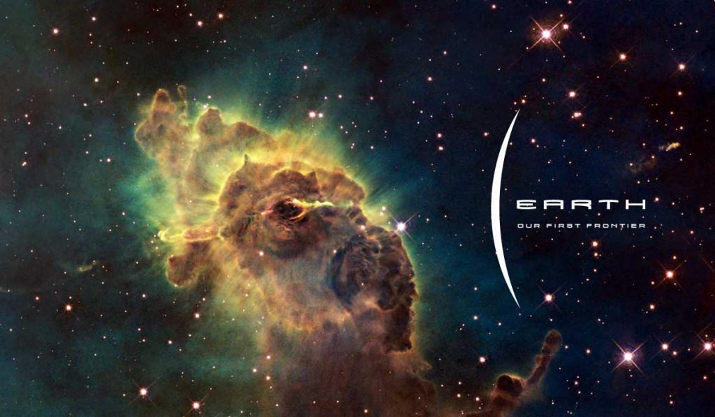 Earth Logo, Space