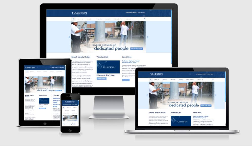 Fullerton Website Responsive Devices