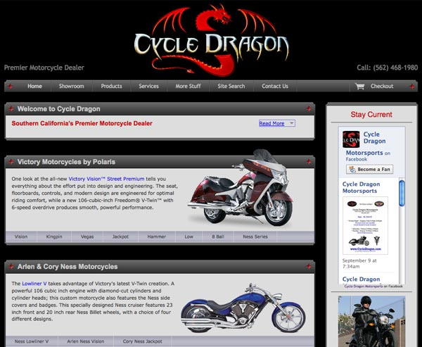 Cycle Dragon home page