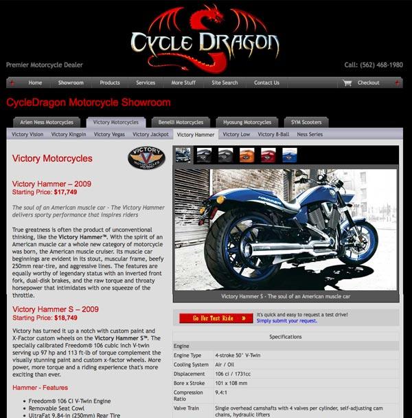 Cycle Dragon showcase page