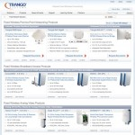 The main Trango products landing page showing all product categories