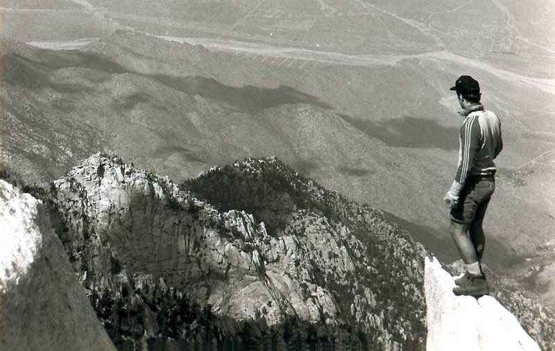 Rob at Mount San Jacinto Peak, 1992