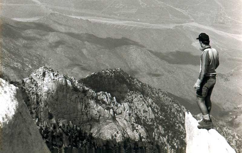Rob at Mount San Jacinto Peak, 1992