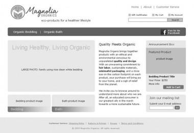 eCommerce Wireframes & Info Architecture: Magnolia Organics