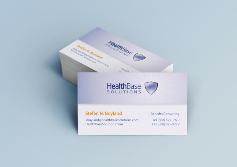 Logo and Business Card Design for HealthBase Solutions
