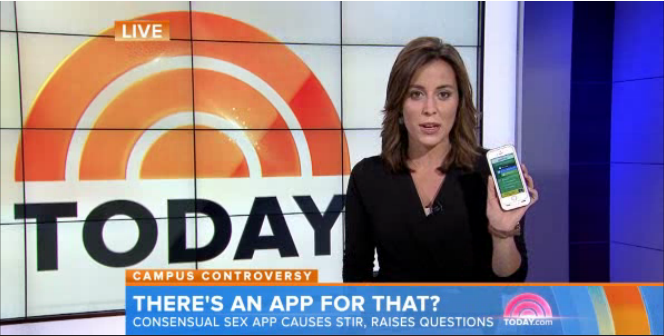Good2Go Sexual Consent App covered on Today