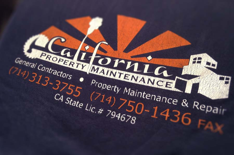 Logo Design for Calfornia Property Maintenance (Shirt Back)